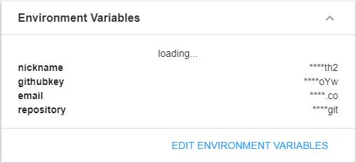 Environment variables configuration