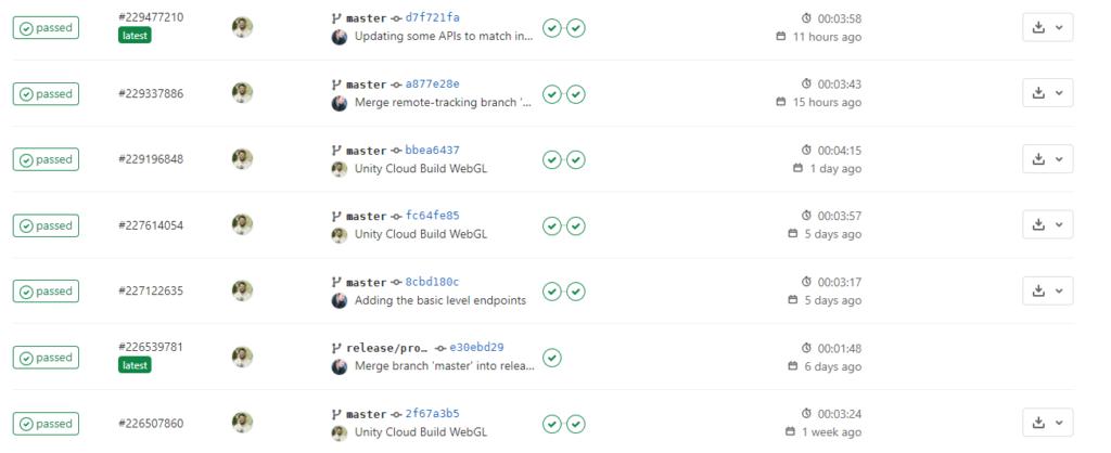 Continuous deployment pipeline status indicators in Gitlab